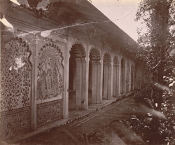 Colonnaded pavilion opening onto a garden, City Palace, Udaipur